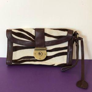 Jcrew leather & animal print small bag. 10.5x6x1.5